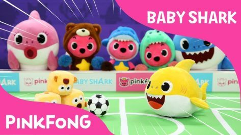 Sharky Pokey Baby Shark Pinkfong Plush Pinkfong Songs for Children